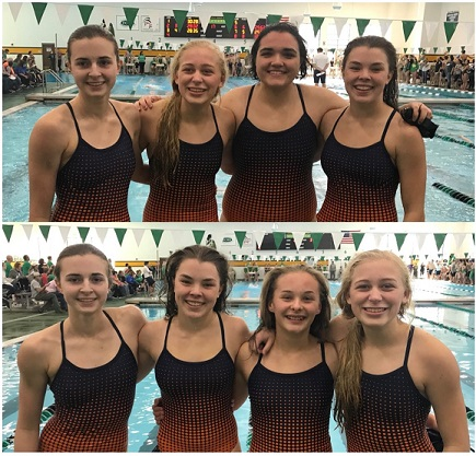 Girl's Swim Team Sets Two New Relay Records