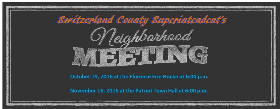Upcoming- Superintendent Neighborhood Meetings