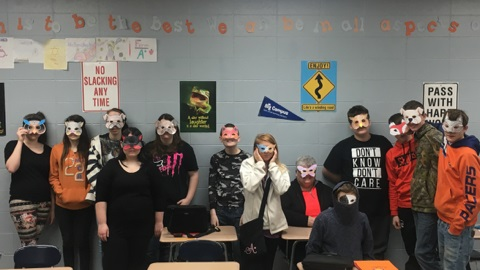 Mrs. Fox's High School English Class Celebrates Shakespeare with a Masquerade Party