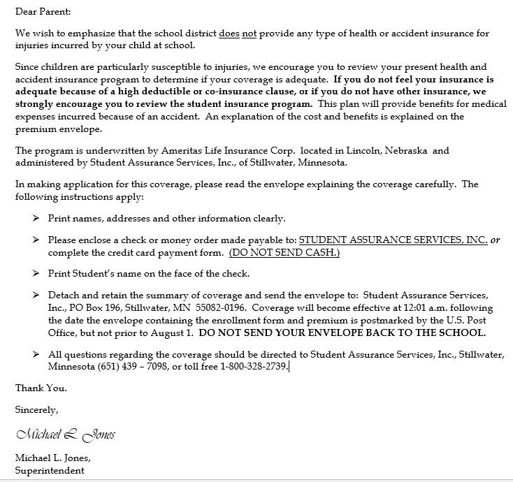 Student Insurance Information