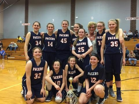 7th grade Lady Pacers Win Tri-County Tournament!