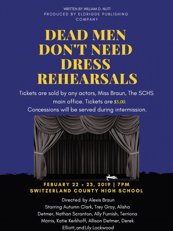 HS Drama Club Performance- February 22, 23