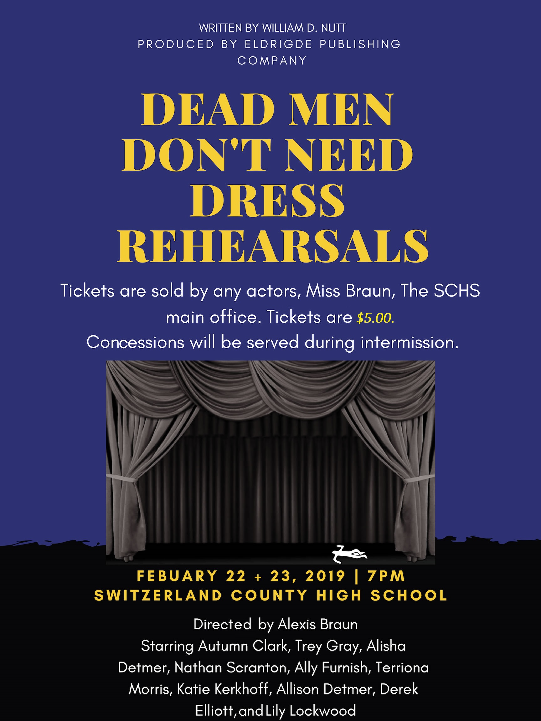 HS Drama Club Performance- February 22, 23