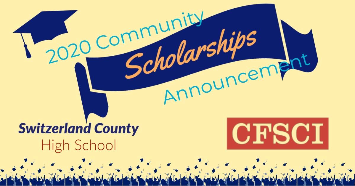 2020 Community Scholarship Announcement