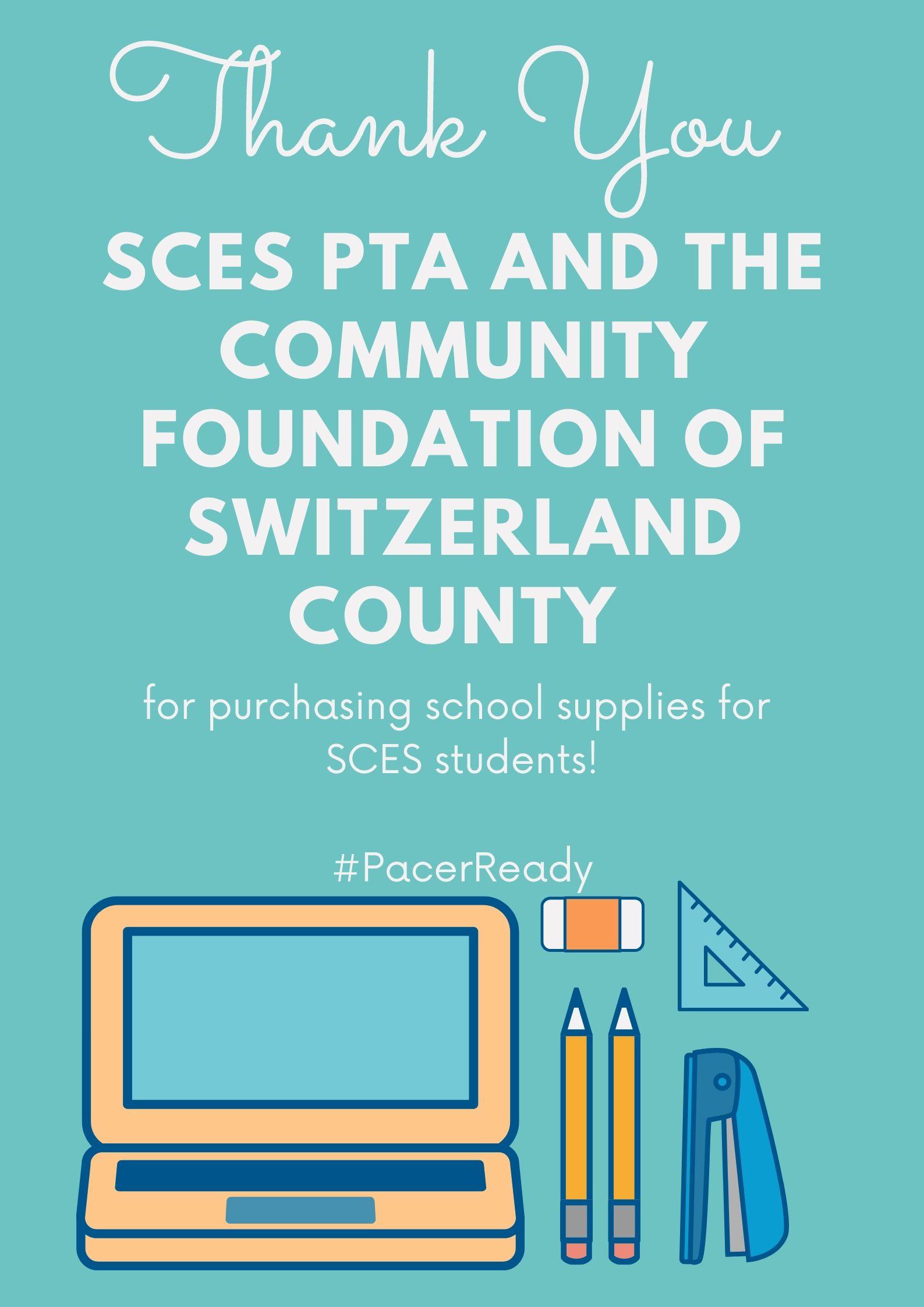 SCES Thank You - School Supplies