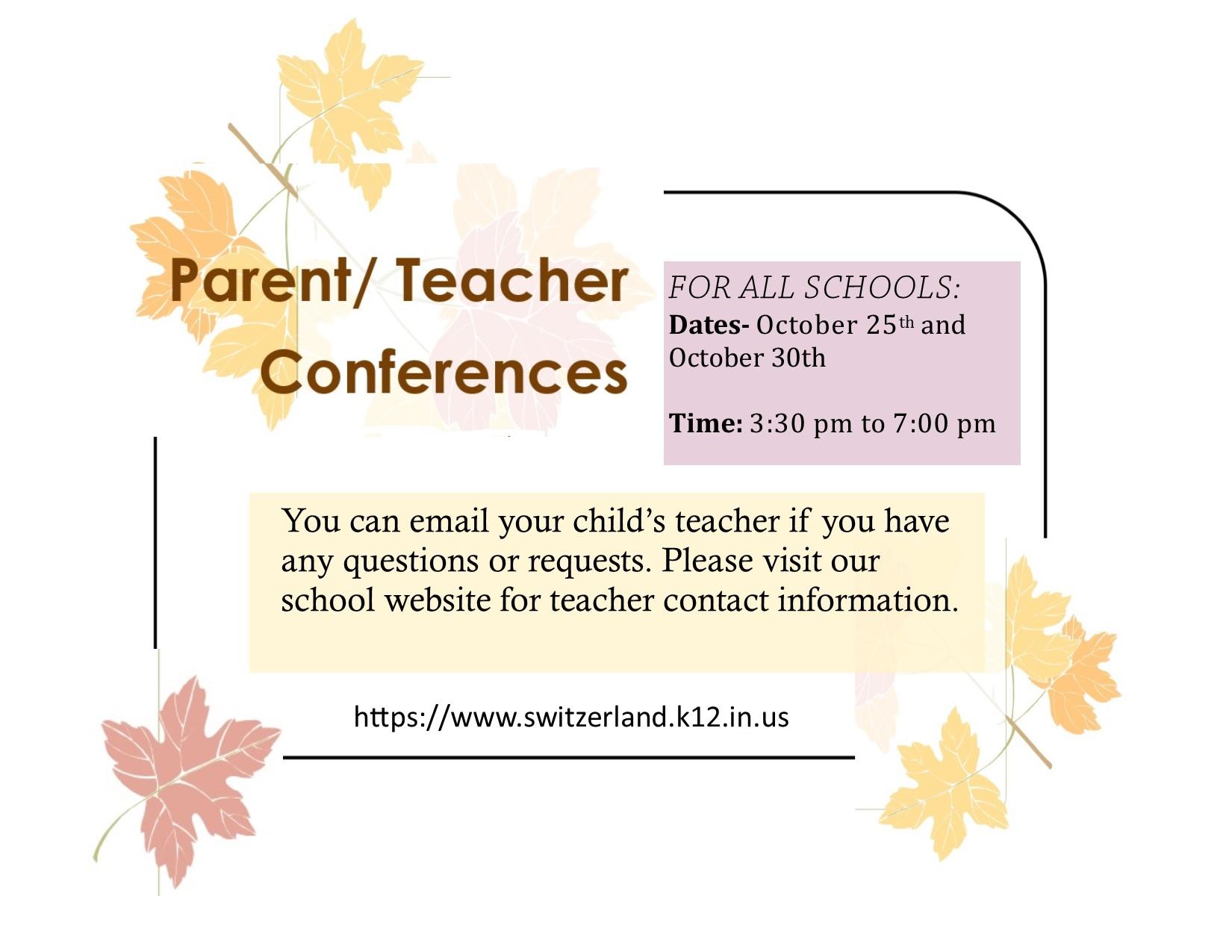 Parent Teacher Conferences 2018
