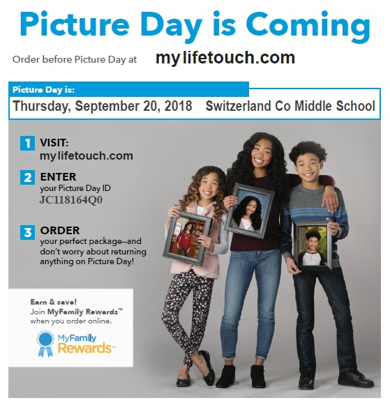 MS Picture Day September 20th