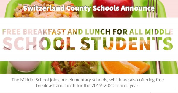 MS offers free breakfast and lunch for the 2019-2020 school year