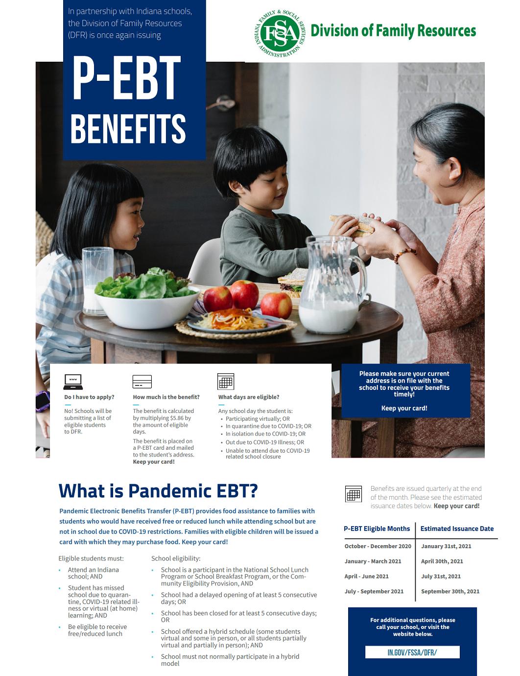 p-ebt benefits 2021