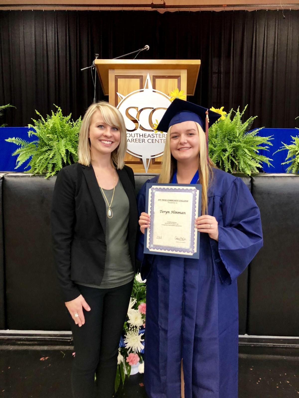 Teryn Hinman awarded nursing scholarshi[